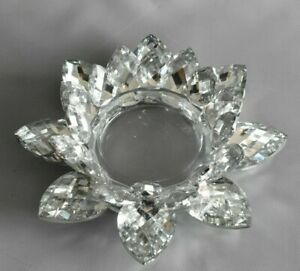 Swarovski? Kerzenhalter Candleholder Kristall Rose Blume # 2