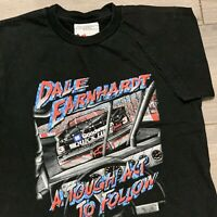 Dale Earnhardt NASCAR T Shirt Youth Medium Black Racing Goodwrench Vintage USA