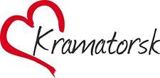 """AUTO Adesivo """"Kramatorsk"""" sticker città ucraina circa 8x16cm contorno tagliati"""