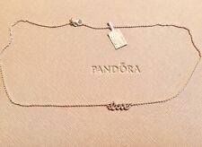Genuine New Pandora Signature Of Love Necklace 590415CZ Size 45