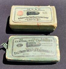 Two Empty Boxes of 50 Union Metallic Cartridge Co .32 S&W Ammo Remington Arms