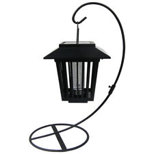 4 Outdoor LED Solar Insect Bug Zapper Lights Lantern Mosquito Control Path Lamp