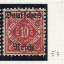 Germany 1920 Wurt. OFFICIAL Early Issue Fine Used 10pf. Optd 270566