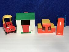 VINTAGE Little Tikes Dollhouse Furniture Playhouse Picnic Table Slide Cozy Coupe