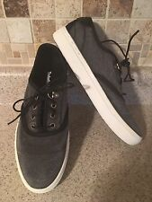 Timberland Amherst Woman's Size 8M Gray Canvas Lace Up Sneaker Oxford Shoe.
