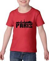 Paris France  Heavy Cotton Toddler Kids T-Shirt Tee