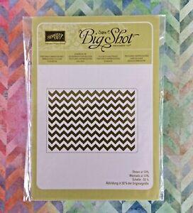 Stampin' Up! Chevron Embossing Folder Sizzix Textured Impressions Stripe Pattern