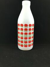 Vintage Mid Century Modern Egizia Milk Glass Bottle Italian Apples Sphinx Mark 1