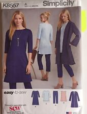 Simplicity 8557 Ladies Relaxed Knit Top Jacket Trousers Dress New Uncut Pattern