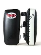 Sandee Large Extra Thick Black & White Flat Thai Kick Pads MMA Muay Thai Boxing