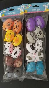Happy Easter Animal-Shaped Plastic Hinged Fillable Eggs, 10/Pk, Select: Type