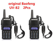2X Baofeng UV-82 5W 144/430MHz 2800mAh UHF/VHF Walkie Talkie Ham Two-way Radios