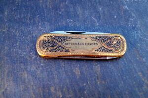 traumhaftes altes Taschenmesser guillochiertes Herrenmesser Bettermann Elektro