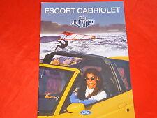FORD Escort Cabriolet Flair XR3i Prospekt von 12/1995
