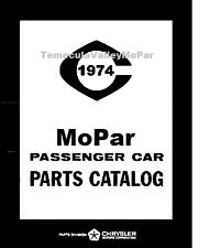 Illustrated MoPar Parts Manual for 1974 Plymouth - Dodge - Chrysler - Imperial