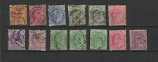 1902-09 INDE ANGLAISE  Edouard VII 13 timbres anciens / T1481