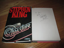 """Horror Author STEPHEN KING signed CHRISTINE 1st Ed 1983 Book """"To Jean 4/22/83"""""""