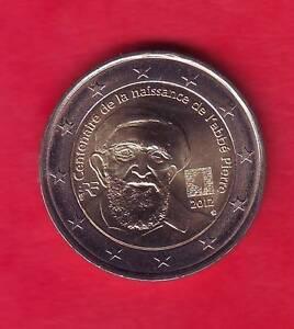 PIECE 2 EURO  FRANCE 2012 - CENTENAIRE NAISSANCE ABBE PIERRE NEUVE.