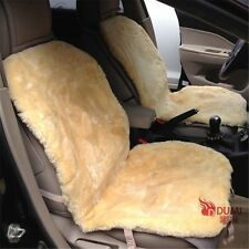 1Pair Short Wool Auto Seat Cushion Genuine Patchwork Sheepskin Car Seat Covers