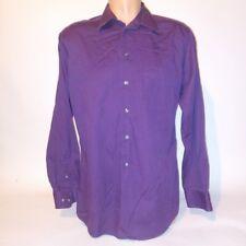 Dockers  Mens Button Down Shirt Medium Plum 15-15.5 34/35 Long Sleeve