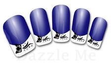3D Nail Art Decals Transfer Stickers French Tip Design Butterflies (3D842)