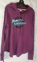 Harley-Davidson Women's Small Purple Long Sleeve Cowl Neck Shirt Top New