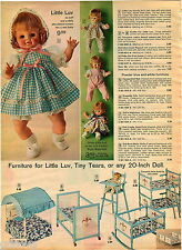 1972 ADVERT Ideal Little Luv Doll Clothes Outfits Travel Trunks
