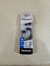 Panasonic RP-HJE120 ErgoFit Wired In-Ear Stereo Canal Earbud Headphones, Black