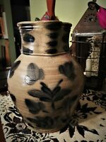 Stoneware Salt Glaze Pitcher Wisconsin Pottery Marked 1989 MEL