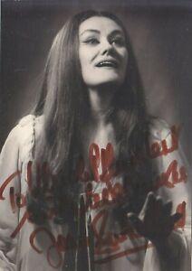 AUTOGRAPHED PHOTO OF OPERA SINGER Joan Sutherland soprano Lucia di Lammermoor