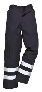 Portwest Ballistic Trousers 1/2 Elastic Waist HI VIS Abrasion Resistant S918 XXL