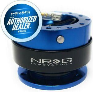 NEW RARE NRG  QUICK RELEASE BLUE BODY AND BLACK RING + HARDWARE SRK-200BL-BK