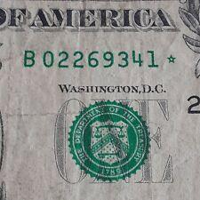 "2013 $1 DOLLAR BILL STAR NOTE ""B"" Series (Double Printed Errors) MAR 6"