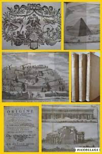 1762 Origine Leggi Arti Scienze EGITTO 3 Volumi INCISIONI Piramidi GEROGLIFICI
