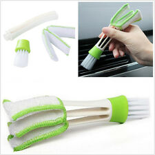 New Double-Head Autos Vehicle Air Outlet Vent Dashboard Dust Cleaning Brush Tool