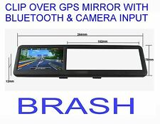 "4.3"" Clipover GPS Mirror with Bluetooth and Camera Input Latest AUSTRALIAN maps!"