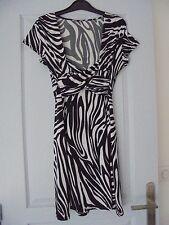 💖Superbe Robe manches courtes motif zèbre // La city T2💖 ou 38