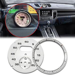 White Dial Clock Gauge Sport Chrono For Porsche Cayman 911 Macan Cayenne Boxster