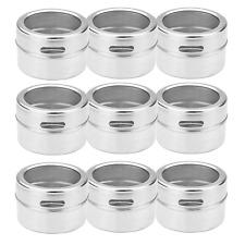 Magnetic Spice Tins - Set of 12 Seasoning Shakers Herb Storage M&W