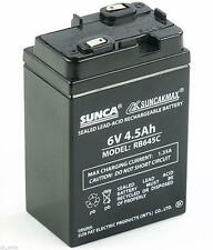 SUNCA 6V 4.5Ah Sealed Lead Acid Rechargable Battery for UPS Emergency Light TOYS