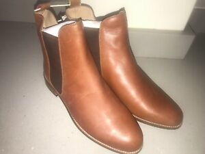 JOULES Chelsea Westbourne Tan Leather Boots 4 7 8 RRP£140 FreeUKP&P