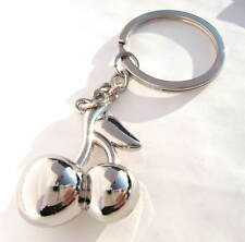Cherry Keyring Chrome Metal Cherries Key Chain Gift Boxed BRAND NEW