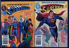 Superman PAIR UNREAD BOOKS Best of DC Blue Ribbon Digest 1, 8 Lot 1979 Comics