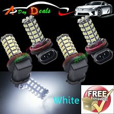 4 x H11 White 68 SMD LED Fog Day Driving Running Daytime Head Light Bulb H11B 12