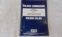 Holden VN Series Commodore Calais Service Manual vol 1 factory dealer workshop