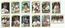 VINTAGE 1980 TOPPS MAJOR LEAGUE BASEBALL CARDS – DETROIT TIGERS – MLB