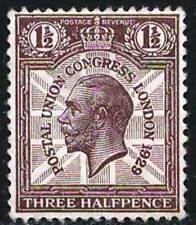 Great Britain 1929 VF MNH Stamp Scott # 207 George V  Three Halfpence  CV 4.00 $