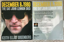 RARE PROMOTIONAL Piece SIGNED Keith Elliot Greenberg THE DAY JOHN LENNON DIED