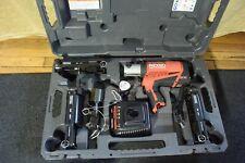 Ridgid Model Rp240 Propress Pressframe Crimper Amp 3 Pressframe Attachments Clean