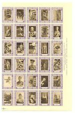 ENGLAND POSTER STAMPS 60 DIF 1937 CORONATION -SHEET FOLDED OVER PERF-MOST VF